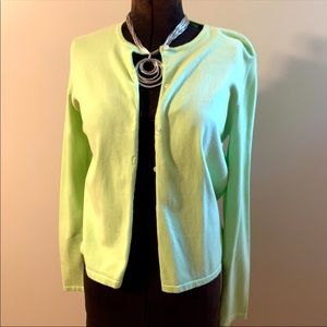 Lilly Pulitzer Button Front Cardigan Sweater lime